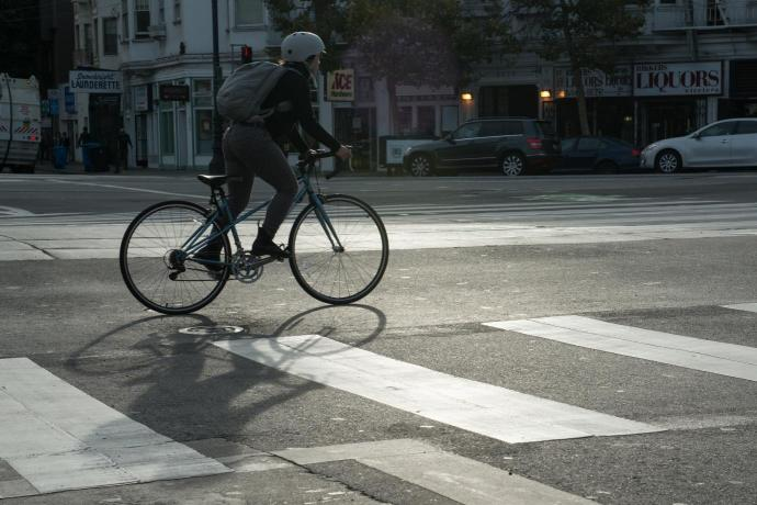 Photo of person riding a bicycle