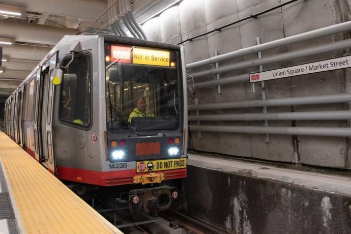 Photo of central subway train platform