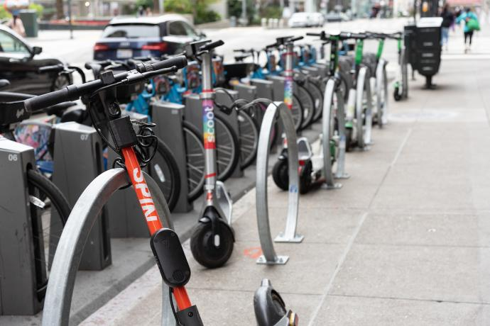 Photo of powered scooters