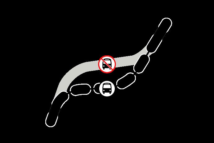 graphic depicting bus reroute