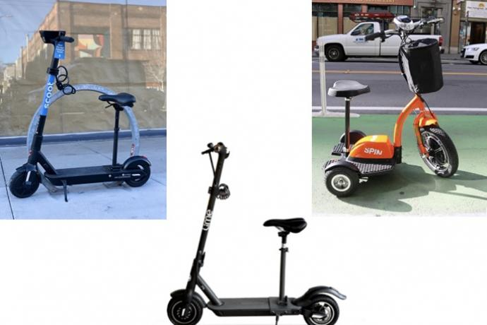 Photo of adaptive scooters from Lime, Spin and Scoot