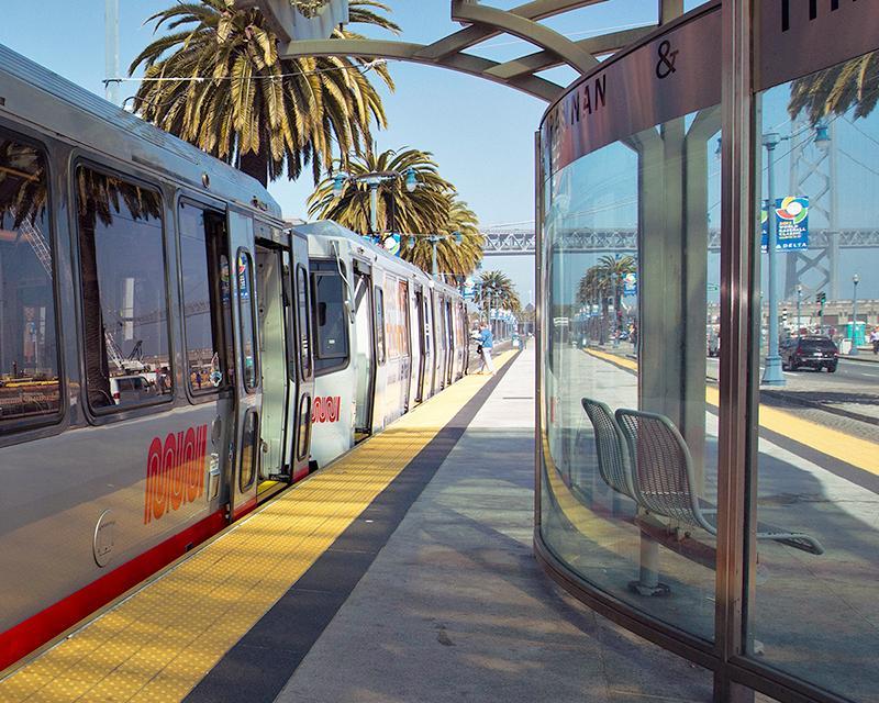 A T Third Muni Metro platform