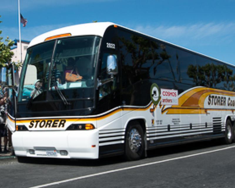 Image of a tour bus