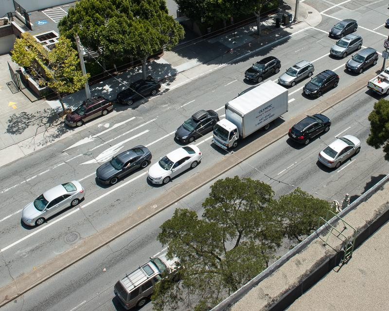 overhead view of traffic on van ness Link to list of drive and park projects