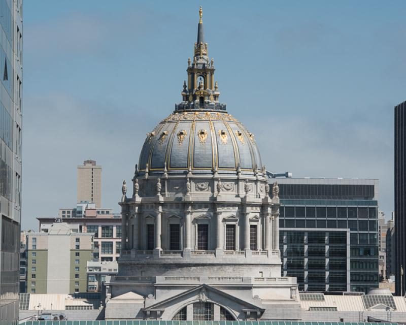 View of City Hall dome