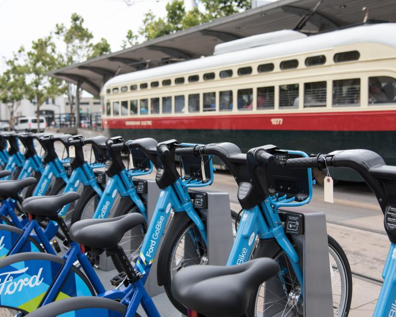 Image of bike share parking on Market