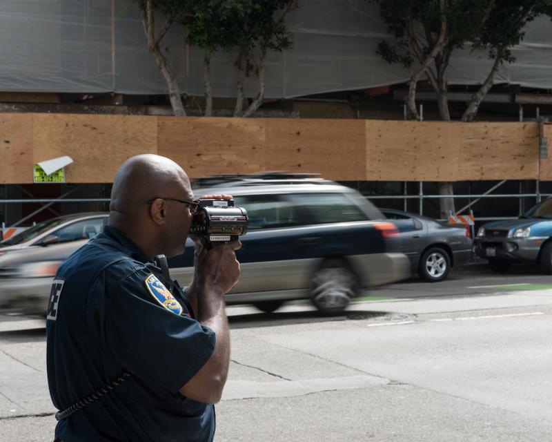 cop using lidar