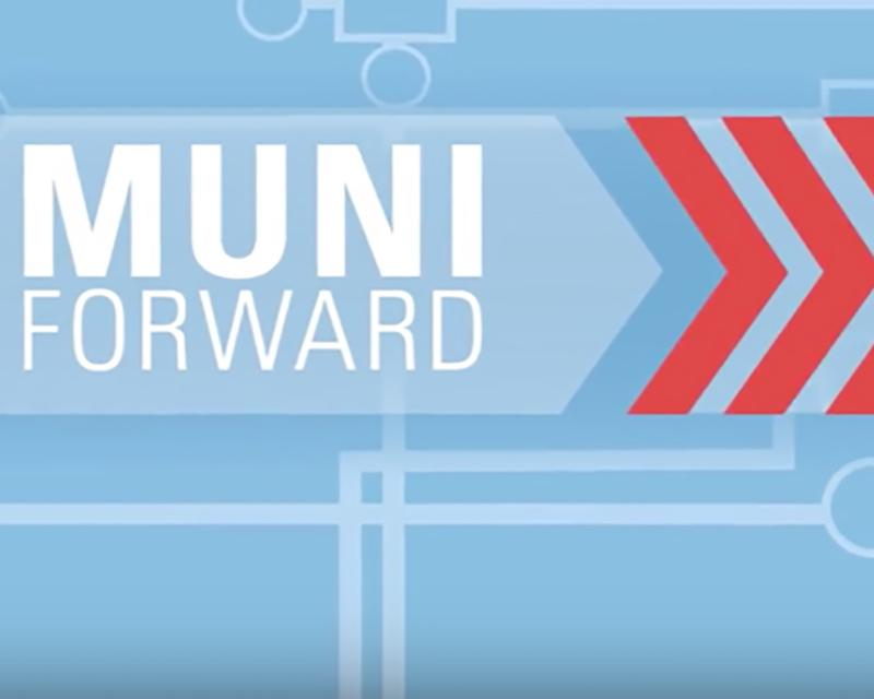 graphic of Muni Forward advertisement