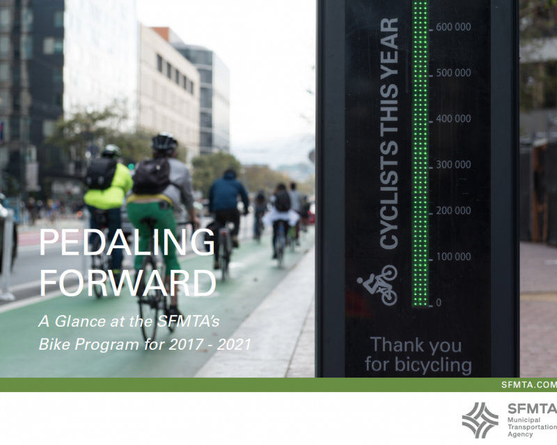 Cover page of the Pedaling Forward report