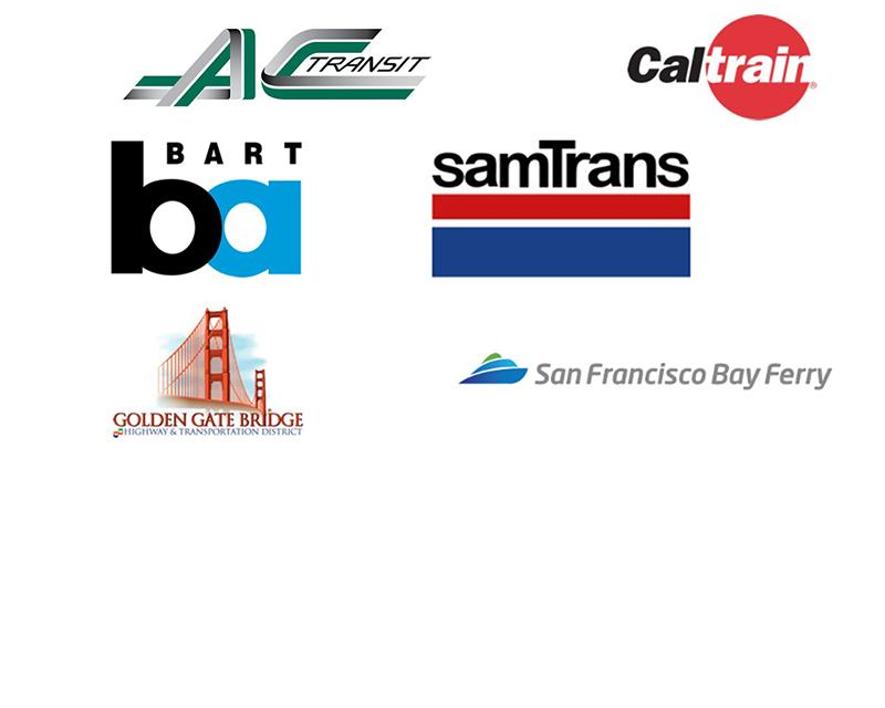 logos of bay area transit agencies