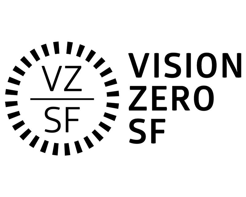 Detail view of Vision Zero SF logo