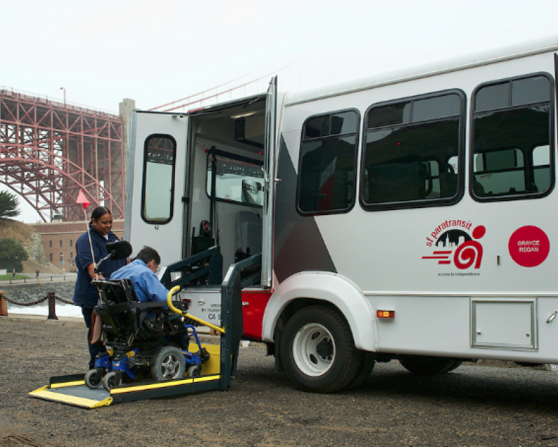 paratransit vehicle