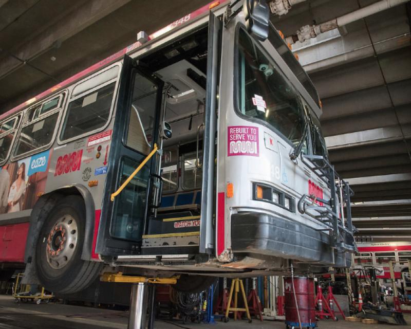 rebuilt hybrid bus