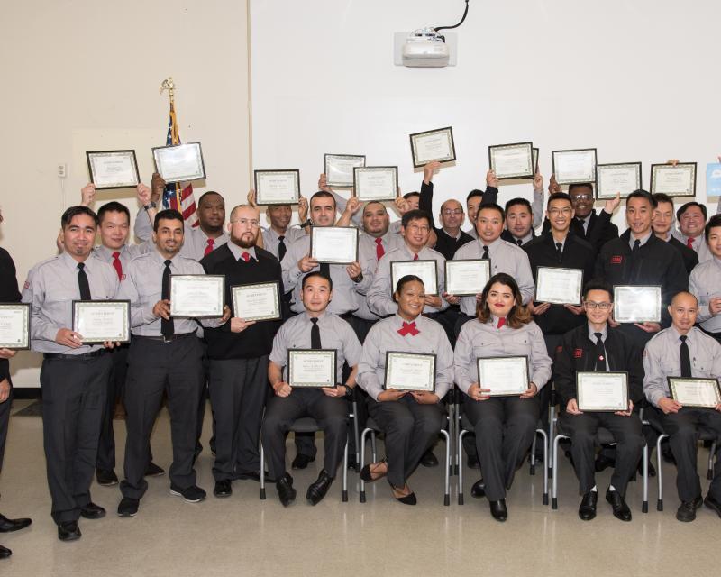 graduating Transit Operator class