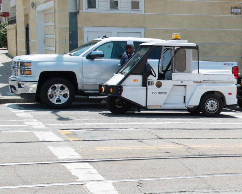 PCO vehicle on street.