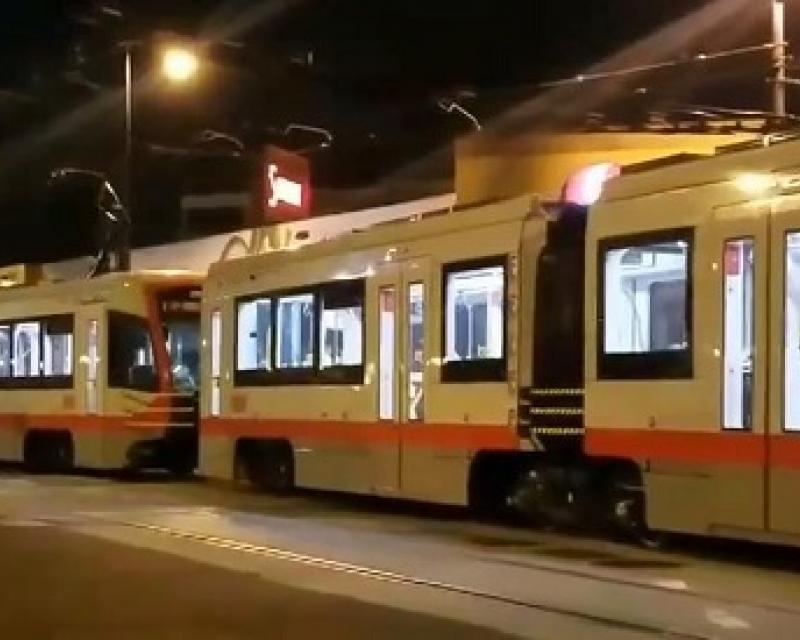 Testing new three car train