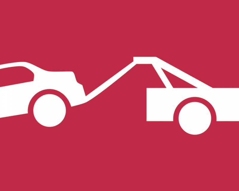 graphic of a car being towed