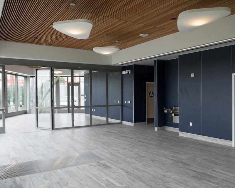 First floor community room at Islais Creek facility