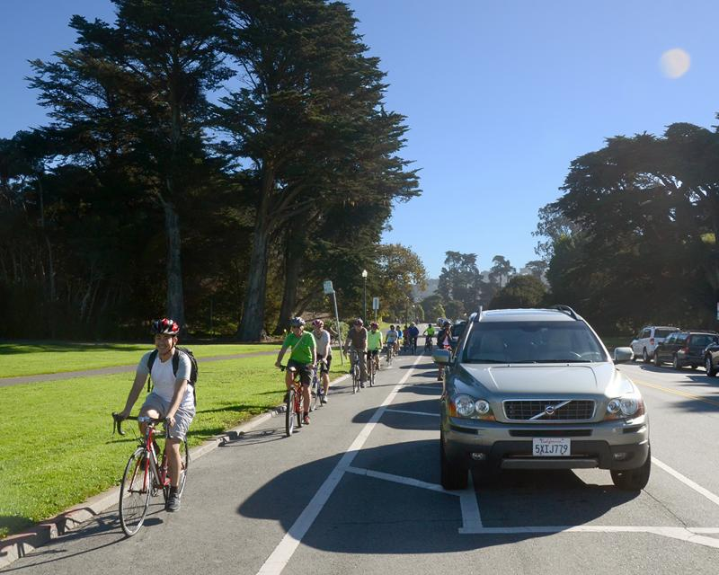 Bikeway in Golden Gate Park