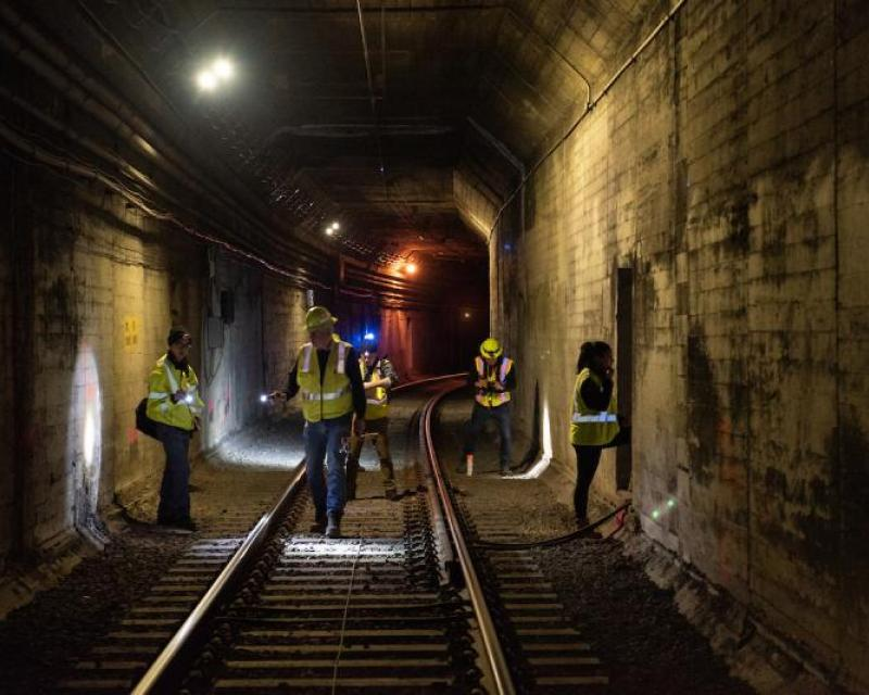 Inspection of Twin Peaks Tunnel