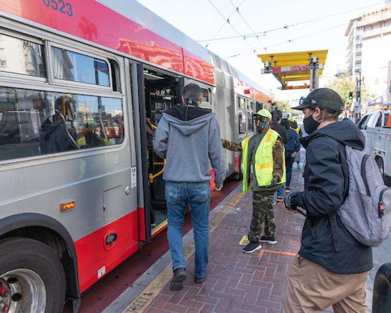 bus boardings covid