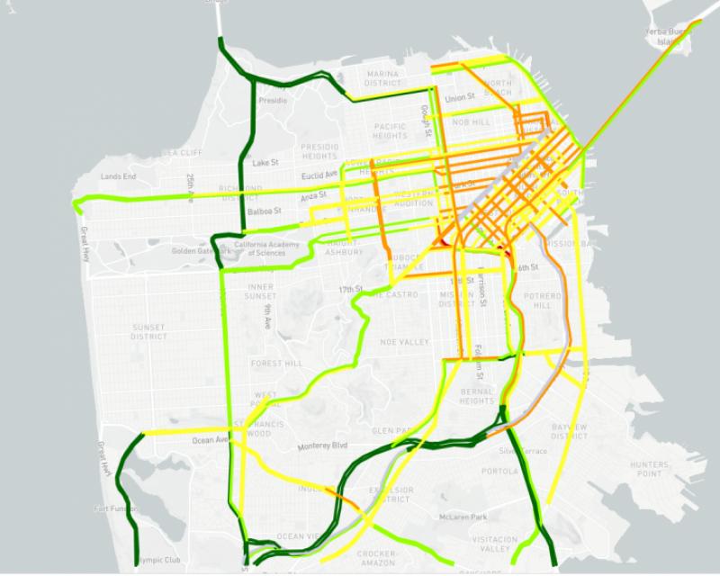 Congestion map