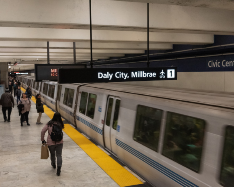 Picture of BART Train in Civic Center Station