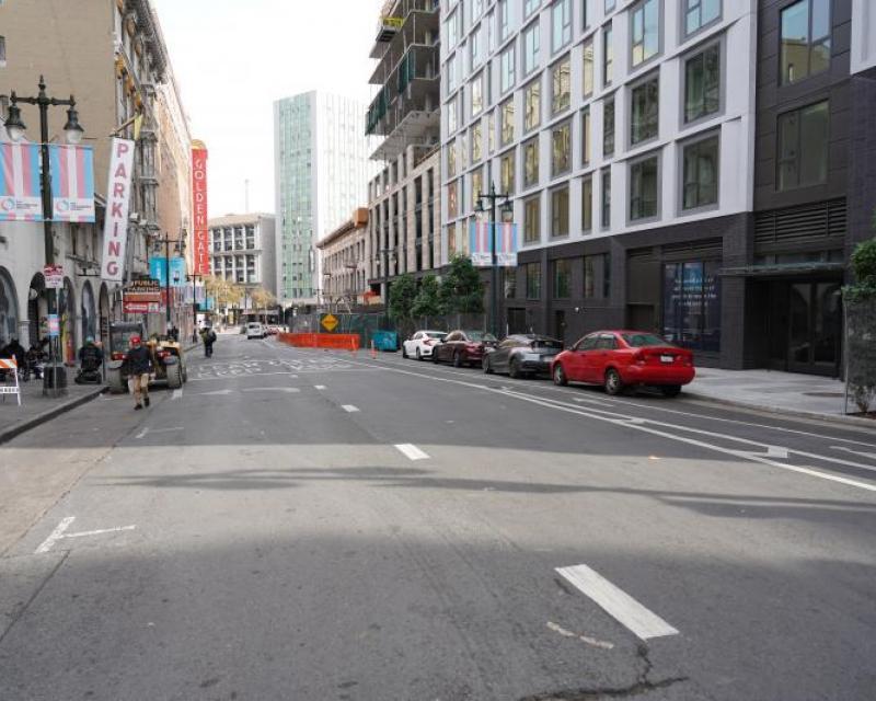 Golden Gate Avenue eastbound