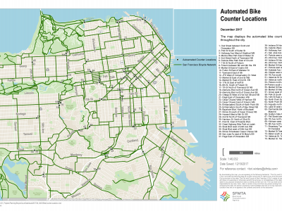 Image of Automated Bike Counter Locations Map