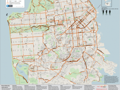 Image of SFMTA Bike Route Map