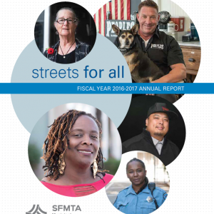 Image of 2017 SFMTA Annual Report Cover