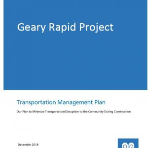 Cover of the Geary Rapid Project Transportation Management Plan