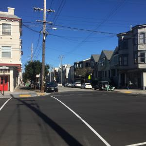 8th Avenue at Anza Street with new pavement