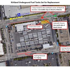 Map of Kirkland Tank Replacement