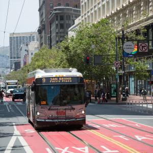 9 San Bruno bus on Market Street