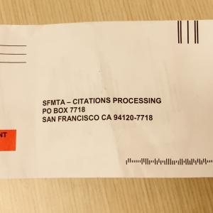 Photo of a parking ticket envelope