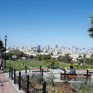 Image of San Francisco from above Dolores Park