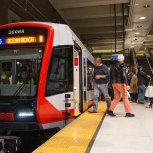 New LRV train in the subway