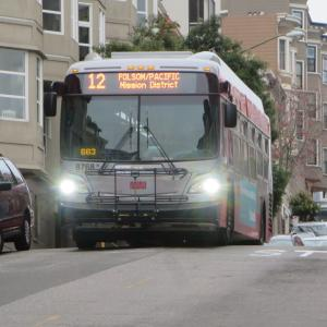 Image of 12 Folsom-Pacific bus on Pacific