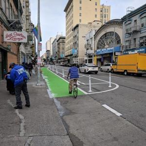Turk Street bike lane.