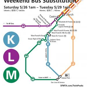 Weekend Bus Substitutions