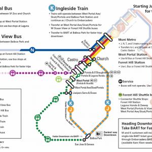 Twin Peaks Tunnel Closure Service Map