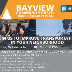 Bayview Community Based Transportation Plan