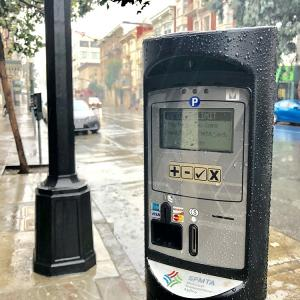 New parking meters on Post Street.