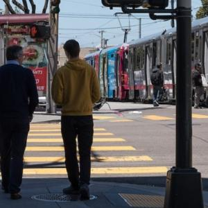 Catching the N Judah in the Inner Sunset