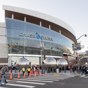 Opening night of the Chase Center Arena.