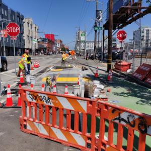 5th and Townsend construction