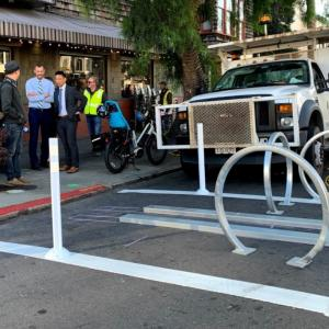 New bike corral at 16th Street and Sanchez
