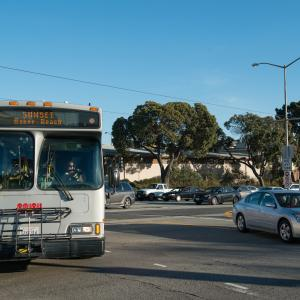 29 Sunset bus turning at an intersection