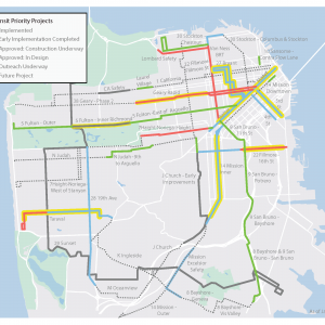 Transit Priority Projects Map